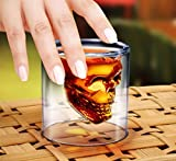 Crystal Skull Shot Glass Doomed 2.5 Ounce Double Wall Shotglass For Fun Alcohol Party Drinks