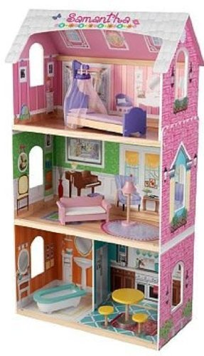 KidKraft My Very Own Dollhouse with Bed Bed Canopy Sofa Floor Lamp Bathtub Bistro table and 2 Chairs, Baby & Kids Zone