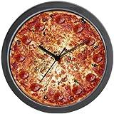 CafePress Pepperoni Pizza Wall Clock - Standard Multi-color