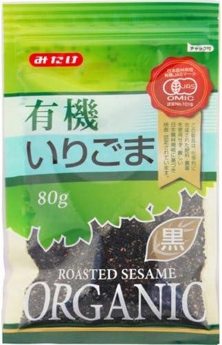 有機 JAS 認定 有機いりごま 黒 80g ×10個 セット (オーガニック 煎り 黒胡麻) (みたけ食品)