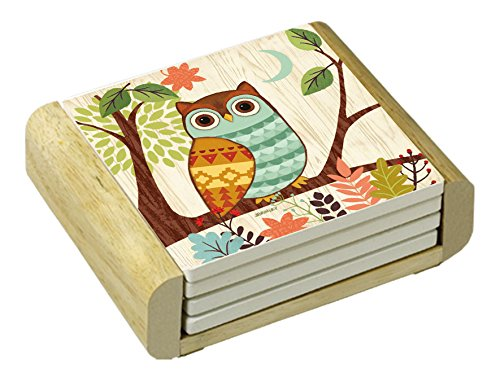 CounterArt Absorbent Coasters Woodland Friends