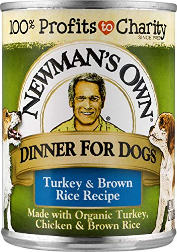Newman's Own Turkey & Brown Rice Formula For Dogs, 12.7-Ounce Cans (Pack Of 12)