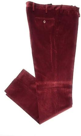 Pantalone uomo TAGLIE FORTI taglia 65 classico velluto a coste calibrato  grigio