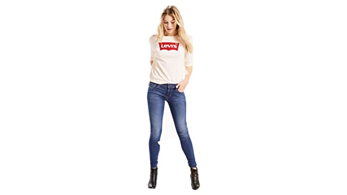 554577f29fe659 Image Unavailable. Image not available for. Color: Levi's¿ Womens Women's 710  Super Skinny Frolic Blue ...