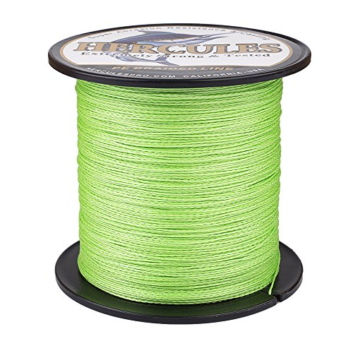 HERCULES Super Strong 100M 109 Yards Braided Fishing Line 30 LB Test for Saltwater Freshwater PE Braid Fish Lines 4 Strands - Fluorescent Green, 30LB (13.6KG), 0.28MM