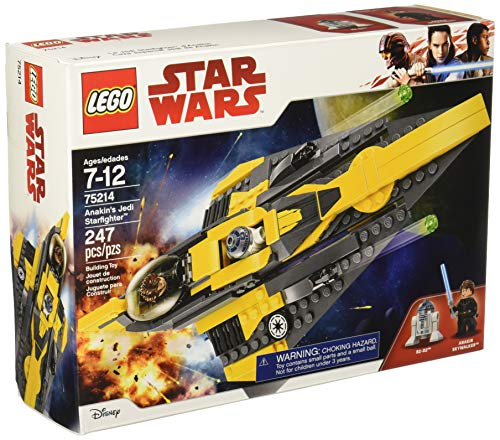 LEGO Star Wars: The Clone Wars Anakin's Jedi Starfighter 75214 Building Kit (247 Piece)]()
