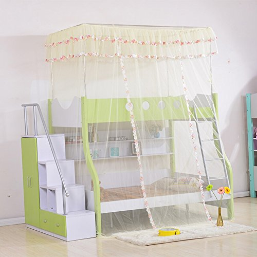 모기장 모기 그물 레터 침대 이층 침대 낮은 침대 어린이 학생 상륙 안정 애 인 TINGTIGN (색상: 노랑 いえろ ? 크기 기: 1M) / Mosquito Net Mosquito Net Letter Bed Bunk Bed Low Bed Child Student Landing Stable Lover TINGTIGN (Color : Yell...