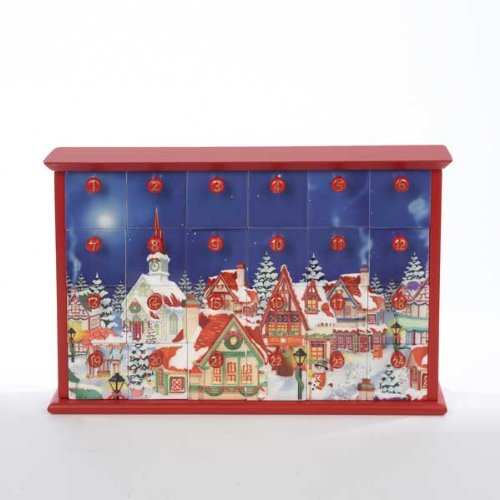 Wood Advent Calendars (Kurt Adler Advent Calendar with 24-Drawers,)