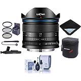 Venus Laowa 7.5mm f/2 Lens Lightweight Micro Four Thirds Mount, Black - Bundle 46mm Filter Kit, Lens Case, Cleaning Kit, Lens Wrap, Capleash II, LensPen Lens Cleaner