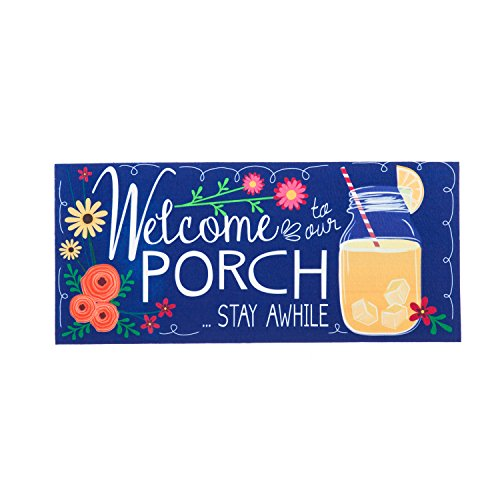 Evergreen Welcome Home Sassafrass Decorative Mat Insert, 10 x 22 inches by Evergreen Flag