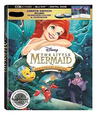 9a7192fa765 Amazon.com  The Little Mermaid 4K 30th Anniversary Signature Collection  Limited Edtion (4K Ultra+Blu-Ray+Digital) with Filmmake Gallery    Storybook  Jodi ...