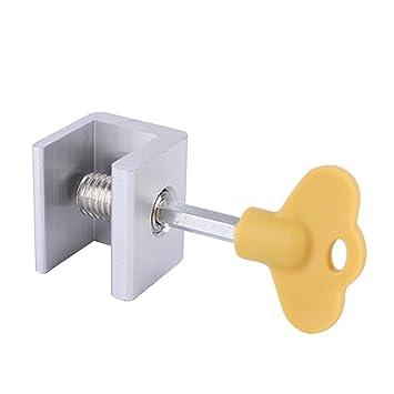 8 piezas / set de cerraduras de seguridad para ventanas correderas ajustables con bloqueo de seguridad