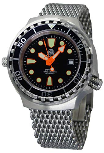 Tauchmeister Automatic, 1000m Dive Watch with Helium Release Valve and Sapphire T0264MIL2 ()