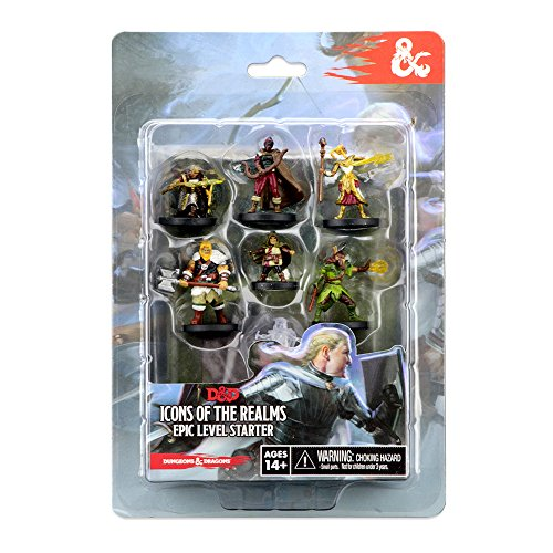 - WizKids D&D Icons of The Realms Miniatures Epic Level Starter Game
