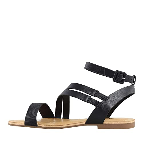 Mix No 6 Womens ediewen Open Toe Casual Ankle Strap Sandals Black Size 90