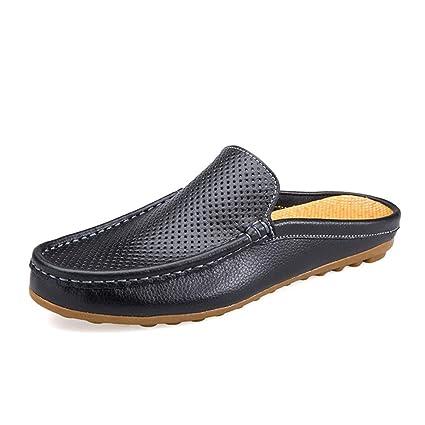 Qiusa Zapatos Mocasines para Hombre Slip on Casual Breathabe Zapatos ahuecados para Cubierta Zapatos para Conducir