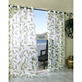 Outdoor decor Escape Leaf Outdoor or Indoor Voile Panel