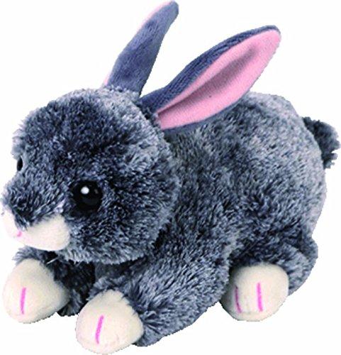 TY Beanie Babies Smokey the Grey (Rabbit Beanie Baby)