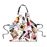 Best Ab Lipsticks - iPrint Custom Apron,Girls,Cosmetic and Makeup Theme Pattern Review
