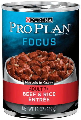 Purina Pro Plan Wet Dog Food, Focus, Adult 7+ Beef & Rice En