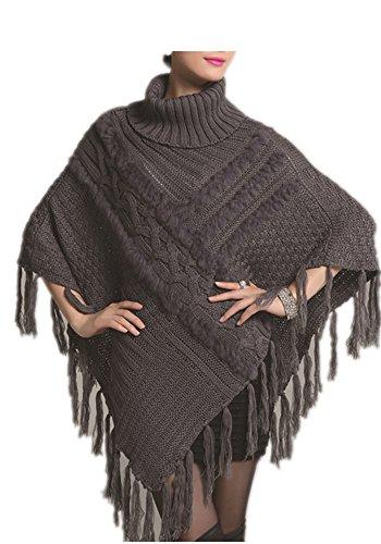 Charmly - Poncho - para mujer gris