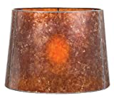B&P Lamp Antique Amber Deep Drum Mica Shade (12 X 14 X 10)
