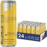 Red Bull Energy Drink Tropical 24 Pack of 12 Fl Oz, Yellow Edition