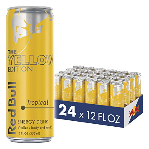 Red Bull Energy Drink, Tropical, 24 Pack of 12 Fl Oz, Yellow Edition