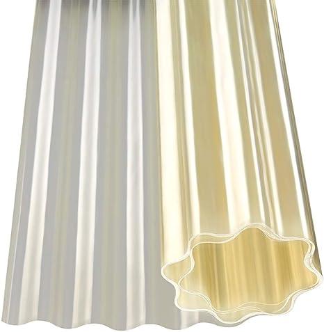 Plancha ondulada de poliéster en rollo, translúcida, color natural ...