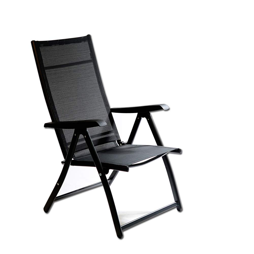 Heavy Duty Durable Adjustable Reclining Folding Chair Outdoor Indoor Garden Pool (1) Otto Trading Inc CHR