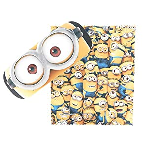Minions Eyeglasses Case & Cross with Spring-loaded Square Type Hard (Zoom Up)