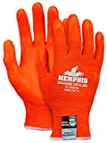 MCR Safety 9178NFOXL Memphis Kevlar 13 Gauge, Hi-Vis DuPont Kevlar Shell, Nitrile Foam Palm Gloves (1 Pair), Orange, X-Large