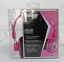 TopOne Realtone 1967 Retro Look Stereophonic Head Phones with Volume Knob Pink New