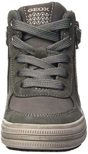 Geox Jr Elvis B, Zapatillas Altas para Niños Grau (Grey/LT GREYC1318)