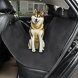 TIROL Black Waterproof Car Pet Seat Cover Hammock Convertible Cat Pet Protector Travel Auto Rear Oxford