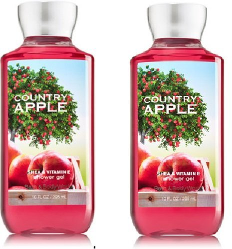 Apple Scented Body Wash - Bath and Body Works (2) Country Apple Shower Gels-10 oz. Bottles