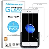 iPhone 7 Screen Protector, [2 Pack] Proud Focus iPhone 7 Tempered Glass Screen Protectors [HD Clear] Bubble Free Screen Protector Glass for Apple iPhone7 with Easy Installation Tool, 10H Hardness