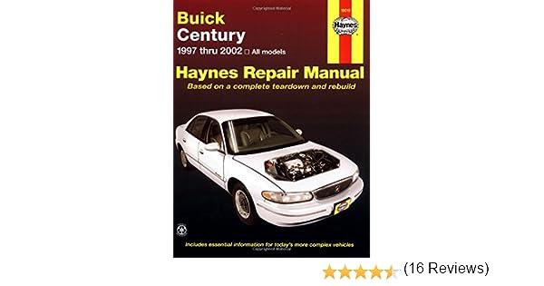 Buick century 1997 thru 2002 haynes repair manual haynes repair buick century 1997 thru 2002 haynes repair manual haynes repair manuals john h haynes 9781563924712 amazon books fandeluxe Image collections