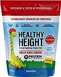 Healthy Height Kids Protein Powder (Vanilla) - Developed by Schneiders Childrens Hospital to Help Children Grow. Nutritional Shake w/ 12 Grams of Protein, No Corn Syrup, No GMOs, No Soy, Gluten-Free