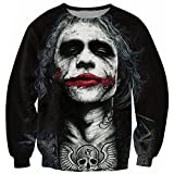 Chiclook Cool Chic Unisex Joker Dark Knight Sweatshirt 3D Hoodie Pullover Outfits T Shirt