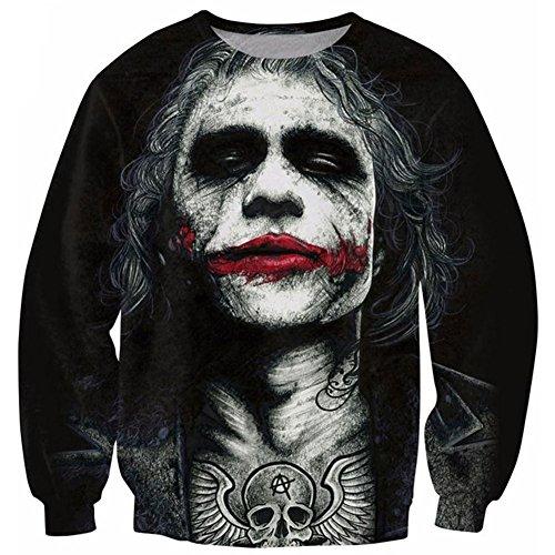 Chiclook Cool Chic Unisex Joker Dark Knight Sweatshirt 3D Hoodie Pullover Outfits T -