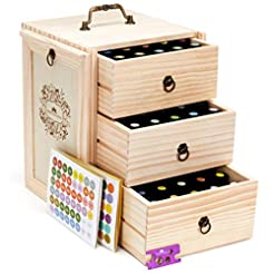 Essential Oil Storage for 75 Bottles - H...
