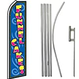 Funnel Cakes Super Flag & Pole Kit For Sale