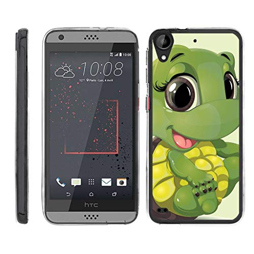 TurtleArmor | Compatible with HTC Desire 530 Case | Desire 630 | Desire 550 [Flexible Armor] Ultra Slim Flexible Clear TPU Case Fitted Soft Bumper Cover Animal - Baby Turtle (Virgin Mobile Htc Desire 4g)