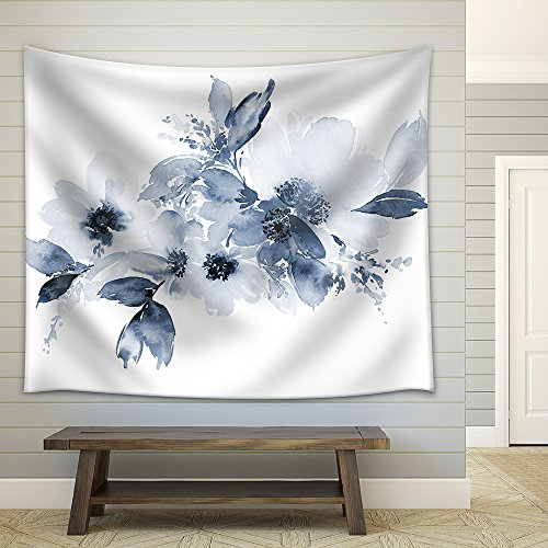 Flowers Watercolor Illustration Manual Composition Fabric Wall