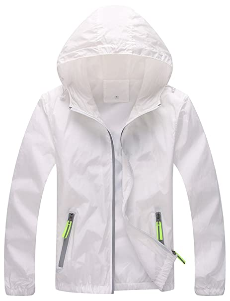 ZSHOW Mujer Super chaqueta ligera secado rápido rompevientos ...