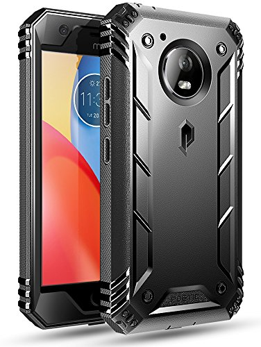 Moto E4 Plus Rugged Case, Poetic Revolution [360 Degree Protection] Full-Body Rugged Heavy Duty Case with Built-in-Screen Protector for Motorola Moto E4 Plus Black