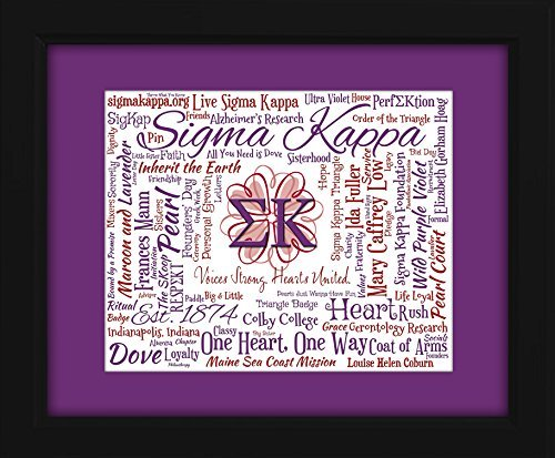 Sigma Kappa Sorority 16x20 Art Piece