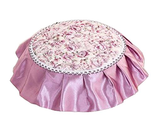 Lovely Stool Mat Beautiful Round Stool Cushion European Style Stools Pad Purple by Black Temptation