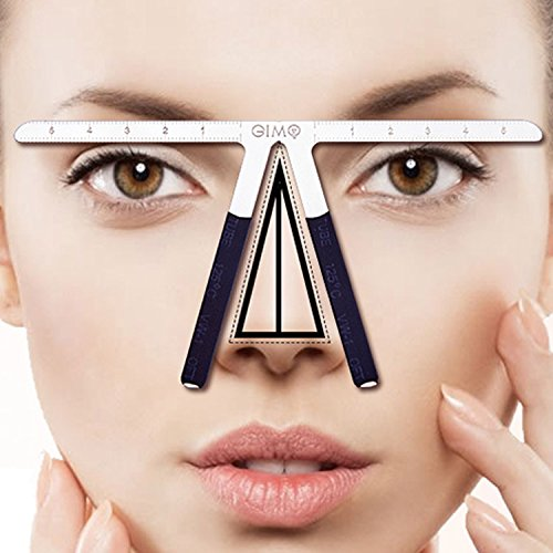 Three-Point Positioning Ruler Permanent Makeup Tattoo Eyebrow Measure Ruler Symmetrical Balance Grooming Stencil - To Shape Your Face How Measure